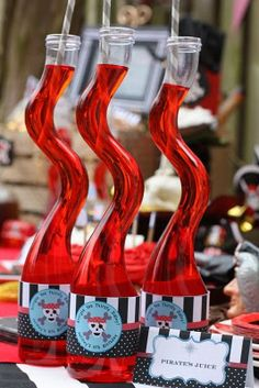 Fun swirly bottles found in the sand craft aisle. Would be cute for Halloween too!