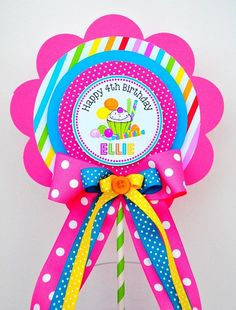 Candyland Centerpiece, Deluxe Birthday Centerpiece, Candyland Birthday Party from The Paper Kingdom Happy 4th Birthday, 4th Birthday Parties, Diy Birthday, Birthday Party Centerpieces, Birthday Decorations, Birthday Party Invitations, Muppet Babies, Mickey Mouse Parties, Mickey Mouse Birthday