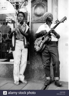 Two young men busking in Cape Town, South Africa, akg-images / Interfoto History Images, Art History, Akg, Young Man, Vintage Men, South Africa, 1950s, Handsome, Hipster