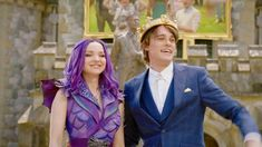 Descendants Mal And Ben, Disney Descendants 3, Mal And Evie, Michael J Fox, Purple Love, Dove Cameron, Disney And Dreamworks, Good Movies, I Movie