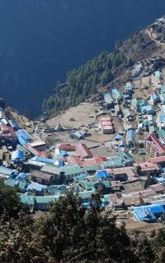 Namche from above on the Everest Base Camp trek.