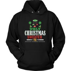Ugly Christmas Sweater - Love, Joy, Peace Unisex Hoodie T-Shirt (12 colors)