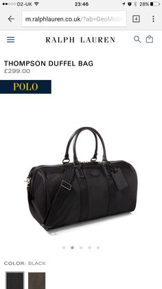 bff5ff4788 Howick Structured Holdall Black - House of Fraser | Weekend bags | Bags,  House of fraser, Other accessories