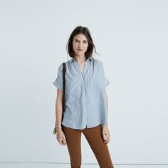 Central Shirt in Chambray Stripe : button-up & popover shirts / Madewell