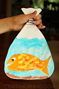 Goldfish in a Bag Painting (Kids Craft) - Crafty Morning