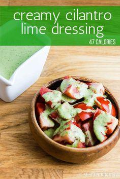 Cilantro Lime Yogurt Dressing - Slender Kitchen