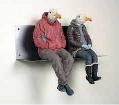 Human-Animal Hybrids | Human-Animal Hybrids - Alessandro Gallo Sculpts People as Birds and ...