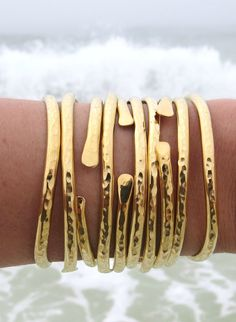 gySEA brass gold cuffs