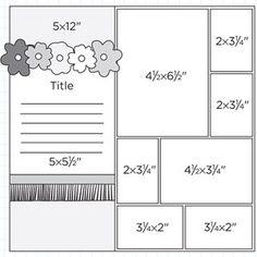 Scrapbook Page Sketch 358