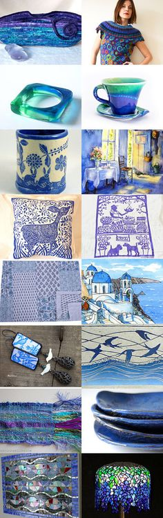 Oh So Blue by Toni Rose on Etsy-- #etsy #treasury #blue #purple #spring #moses #basket Pinned with TreasuryPin.com