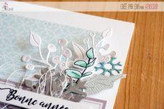 "Eva : Tampons & matrices de coupe (dies) #4enscrap ""Bonne année"" Tampons, Mint Blue, White Christmas, Happy New Year, Greeting Card"