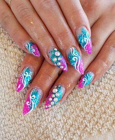 Stiletto nails for summer