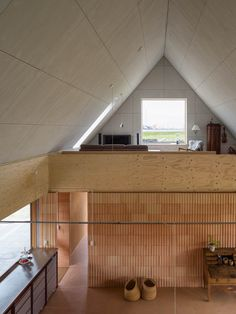 Lenschow & Pihlmann . House on Fanø . Nordby afasia (15) | a f a s i a Architectural Digest, Architectural Elements, Home Modern, Danish Modern, Modern Room, Laminated Veneer Lumber, Long House, Floor Layout, Higher Design