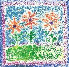 Art with Kids: Sandpaper Crayon Transfers amybe print on fabric if use crayloa crayons