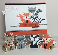 Foxy Friends- Stampin' Up! Stampin Up Foxy Friends Cards, Foxy Friends Punch, Cards For Friends, Karten Diy, Stampin Up Catalog, Stamping Up Cards, Animal Cards, Cool Cards, Kids Cards