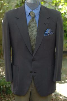 Oxxford Clothes $2895 Taupe Brown Hopsack Wool Sport Coat Blazer 42R 42 R #OxxfordClothes #TwoButton