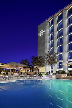 Hotel President Wilson Geneva Exterior Pool At Night Por Luxury Collection Hotels And