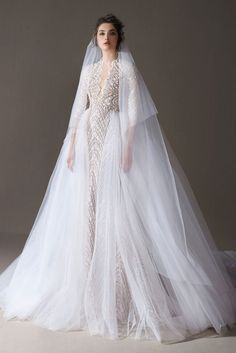 Ersa Atelier's 2020 bridal collection is all about the dramatic details and voluminous silhouettes, and we're . Muslim Wedding Dresses, Wedding Dress Trends, Princess Wedding Dresses, Best Wedding Dresses, Bridal Dresses, Wedding Gowns, Bridesmaid Gowns, Modest Wedding, Casual Wedding