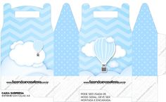 Imprimibles Gratis Baby Shower, Pillow Box Template, Baby Shawer, Packing Boxes, Ideas Para Fiestas, Monogram Letters, Hot Air Balloon, Baby Boy Shower, Boy Birthday