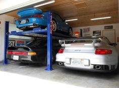 Make the garage another room in your house with Car Guy Garage. We carry garage storage, flooring, decor, cabinets and all the accessories you need to make your dream garage. Garage Lift, Garage Shop, Garage Organization, Garage Storage, Beautiful Houses Interior, Beautiful Homes, Porsche Boxster, Dream Garage, Cool Rooms