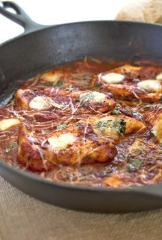 One pan Italian chicken skillet (Serve with thatched Pasta with lemon and oil recipe)