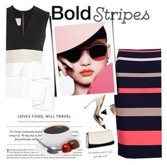 """""""Big Bold Stripes"""" by clotheshawg ❤ liked on Polyvore featuring Roksanda"""
