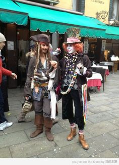 Captain Jack Sparrow meets the Mad Hatter.