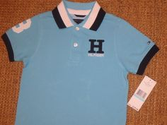 Set of 2 NWT Boy/'s Tommy Hilfiger Button-Down Shirts Size 4 5 7
