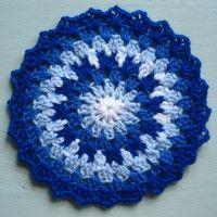 Crochet Mandala Wheel made by Felicty, Wolverhaptom, UK, for yarndale.co.uk