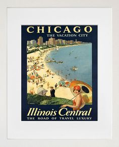 Chicago Travel Poster Art Print Vintage Home Decor ZT219