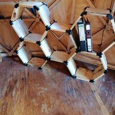Custom Hexagon Shelves Using Printing: 6 Steps (with Pictures) Autodesk Inventor, 3d Printer Designs, Hexagon Shelves, Double Stick Tape, Super Glue, Shelf Brackets, Wood Screws, Floating Shelves, 3d Printing