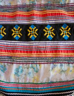 Seminol patchwork ceremony skirt detail