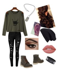 """""""Untitled #22"""" by hemmosnose on Polyvore featuring Timberland, Tiffany & Co., Halogen and Lime Crime"""