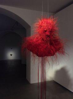 Textile Sculpture, Textile Art, Dark Art Illustrations, Illustration Art, Painting Inspiration, Art Inspo, Art Alien, September Art, Alphonse Mucha Art