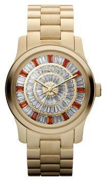 ed331be60f9b Michael Kors Gold Female Glitz Mk5729 Watch