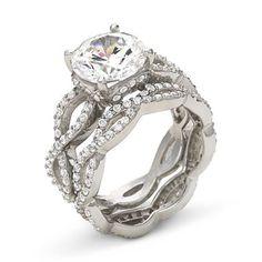 Perfect DiamonArt® Cubic Zirconia Engagement Ring Set   Jcpenney