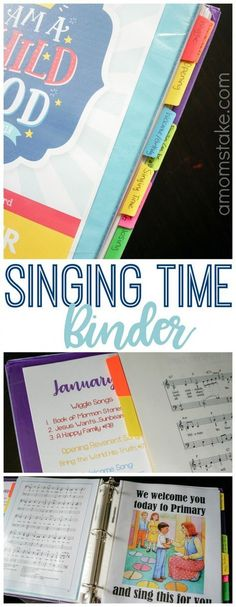 I cant gush enough about how organized this Primary Singing Time binder has made me! No more scrambling Sunday morning, this covers everything, no Childrens Songbook required! A great resource for an LDS Primary Chorister / Music Leader Primary Activities, Primary Lessons, Primary Resources, Time Activities, Music Activities, Primary Singing Time, Primary Music, Lds Primary Songs, Lds Music