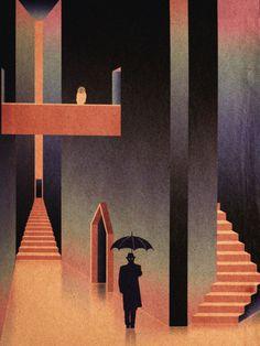 "take a left at the light ~ for a flitt of fancy flight ~ . art-and-fury: "" Josh Courlas illustrations at Lurid Tales of Myth and Fancy "" "" Art Inspo, Kunst Inspo, Art And Illustration, Illustrations Posters, Illustrations Vintage, Arte Ganesha, Modern Art, Contemporary Art, Street Art"