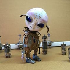 Пришелец. Авторская кукла – купить в интернет-магазине на Ярмарке Мастеров с доставкой