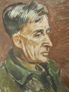 Portrait of Leonard Woolf, by Quentin Bell, circa 1940 Clive Bell, Dora Carrington, Leonard Woolf, Duncan Grant, Vanessa Bell, Bell Art, Bloomsbury Group, Australian Painters, Charleston Homes