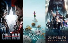 Movie Releases in May 2016: Captain America: Civil War, Alice Through the Looking Glass, X-Men Apocalypse and More