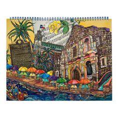 San Antonio and summer favorites Calendar - summer gifts season diy template ideas