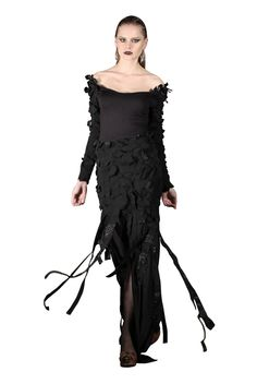 Yan To Long sleeved elastic dress.