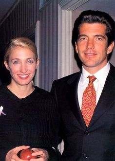 Carolyn Bessette Kennedy and John  (gone too soon!). Died together in a plane crash.