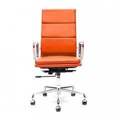 Orange Soft Pad Style Executive Office Chair