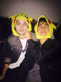 Malum wearing Pikachu hats