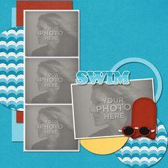 Digital Scrapbooking Kits | Swimming Template | Sports | MyMemories
