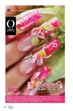 Mariana Contreras/ ProMaster Organic® Nails Beautiful Nail Designs, Beautiful Nail Art, Bling Nails, 3d Nails, Rock Star Nails, Organic Nails, Baby Nails, Floral Nail Art, Acrylic Gel