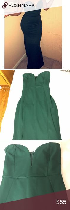Emerald green Dress Beautiful skin hugging Long dress• worn once• great for a wedding or prom• WINDSOR Dresses Strapless