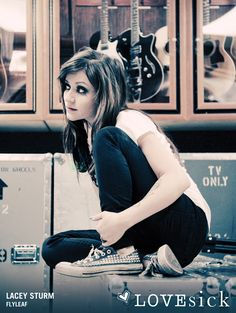 Lacey Sturm.. Former lead singer of  Flyleaf. I wish she was still the lead singer. I love her voice.